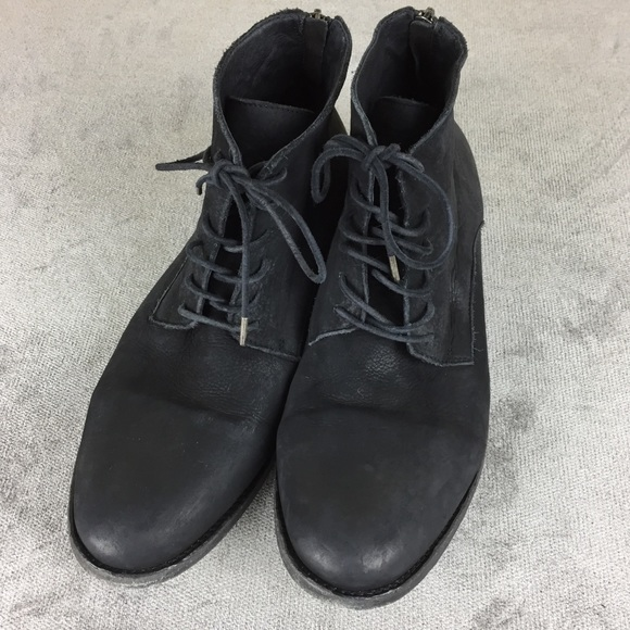 d5cb699efb3 All Saints Other - AllSaints Washed Black Sett Leather Boots Size 45
